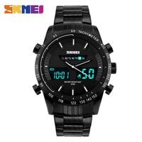 SKMEI Dual Display Watch Luxury Men Sports Watches Men S Digital Military Wristwatches Steel Relogio Masculino