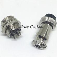 10 Pasang GX16-6 6Pin 16 Mm Pria & Wanita Butt Joint Konektor Kit GX16 Soket + Plug, RS765 Penerbangan Antarmuka Plug(China)