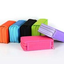 3 и 4 слоя пенал большой ящик для хранения ручки простой дизайн сумка на молнии для студентов подарок школьные канцелярские принадлежности Пенал