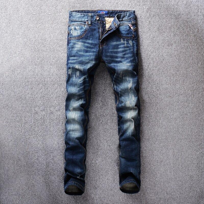SHABIQI  Fashion Men Jeans Italian Classic Style Simple Denim Buttons Pants  Brand Jeans Men Slim Biker Jeans Homme