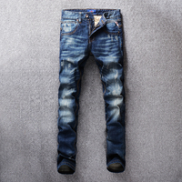 SHABIQI Fashion Men Jeans Italian Classic Style Simple Denim Buttons Pants Brand Jeans Men Slim Biker Jeans Homme