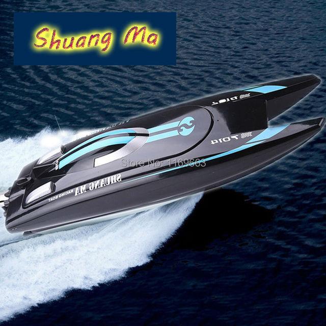 SHUANG MA 7014 de Alta Velocidad 2.4G RC Barco Eléctrico de Control remoto Lancha Rápida con Súper refrigerado por Agua Del Motor DEL RC barco