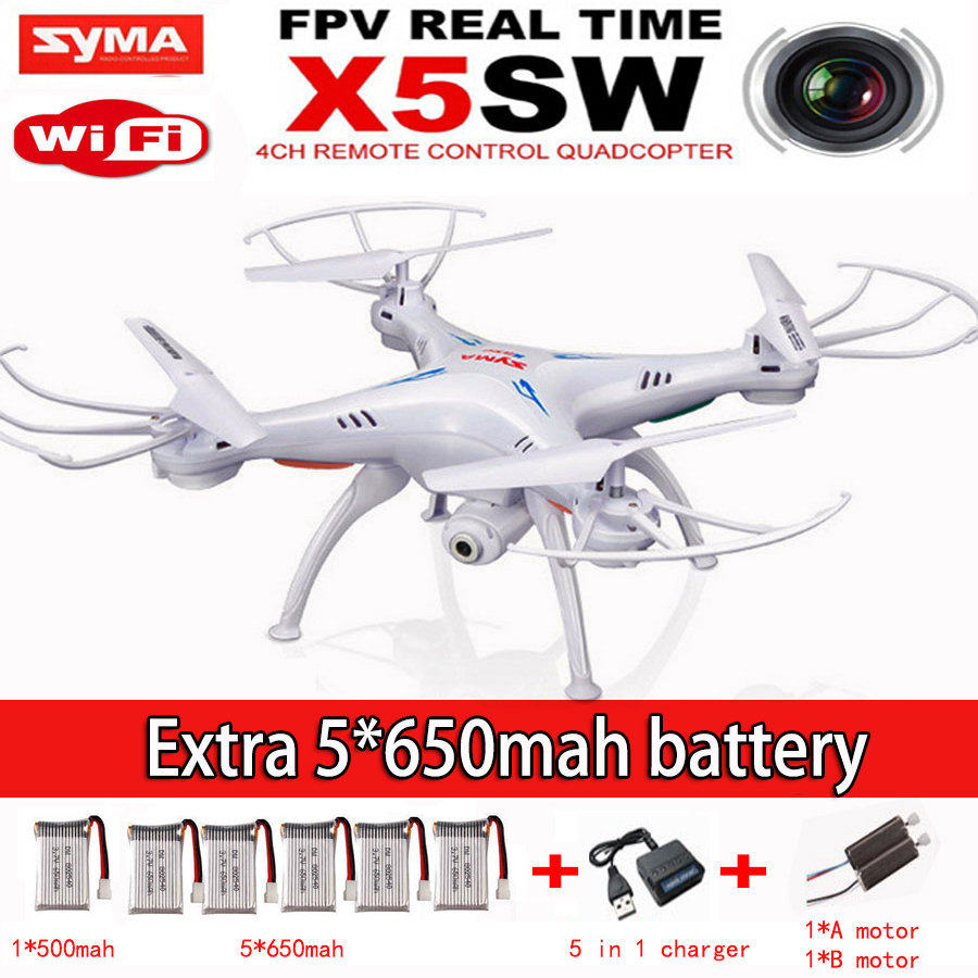 Free Shipping SYMA X5SW FPV With 2 MP Camera WIFI RC Drone Quadcopter 2.4G 6-Axis Syma X5c Upgraded Version Real Time Video