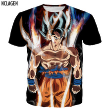 Dragon Ball Super Ultra Instinct Son Goku NCLAGEN Men 3D T Shirt Super Saiyan God Blue Hair Vegeta Print Cartoon Summer Top Tee 5XL
