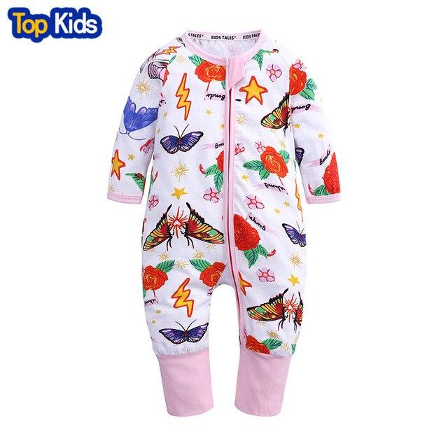 65e05e42d Newborn Baby Boy Clothes Infant Romper Long Sleeve Flower Print Baby ...