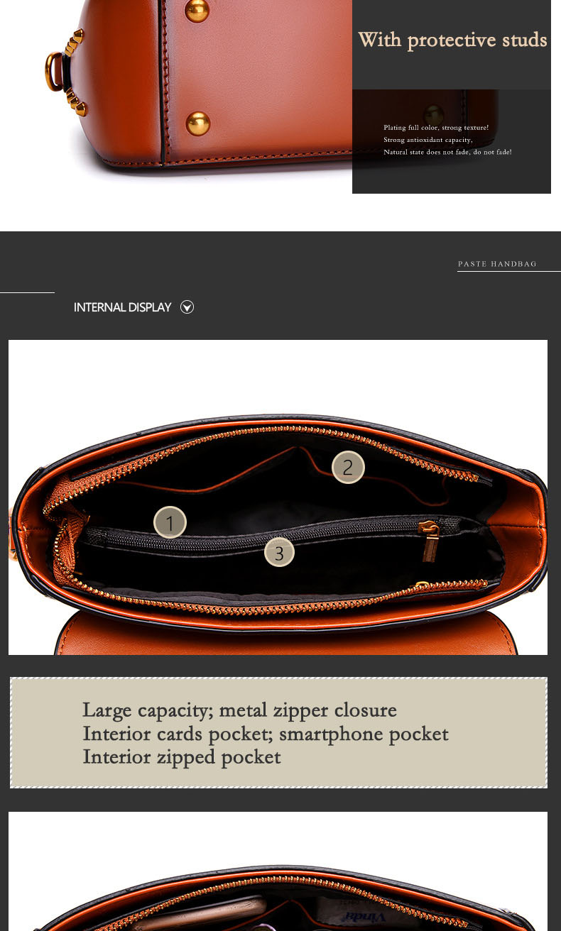 Vintage Real Leather Wide shoulder strap Handbag premium quality fashion genuine leather Shoulder Bags of Famous Brand (17)