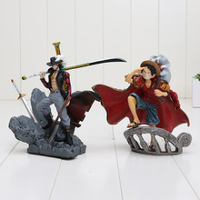 One Piece Monkey D Luffy Dracule Mihawk PVC Action Figure Toy