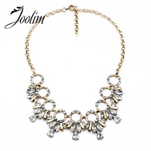 2014 Vintage Round Crystal Pendant Necklace Statement JC  Free Shipping (Min Order $20 Can Mix)
