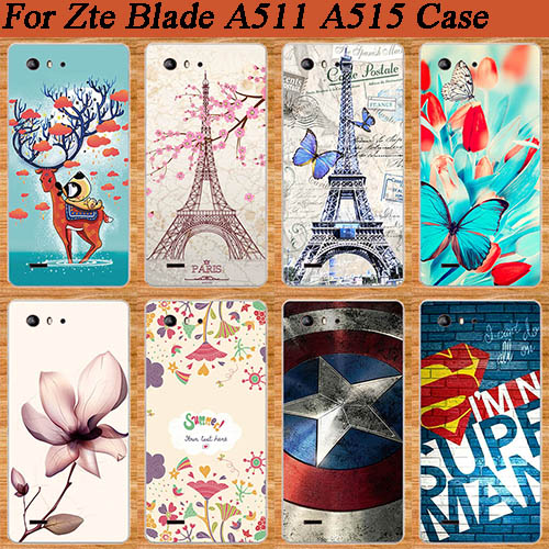 Fashion Perfect Design DIY Painted SOFT TPU protect Phone Cover Case For ZTE Blade A515 A 515 Patterns Back Cover for ZTE A515 image