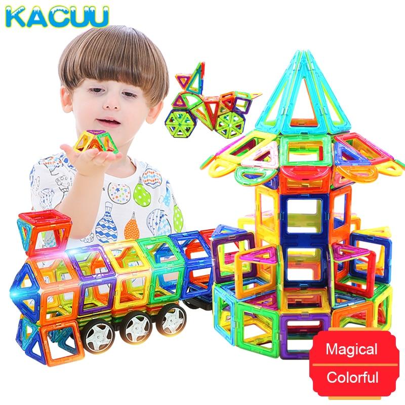 KACUU Big Size Magnetic Designer Construction Set Model & Building Toy Magnets Magnetic Blocks Educational Toys For Children 100 298pcs blocks magnetic designer construction set model