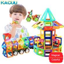 KACUU Tamanho Grande Conjunto Modelo de Construção Designer & Ímãs de Brinquedos Do Edifício Magnético Blocos Magnéticos Brinquedos Educativos Para Crianças