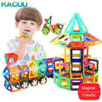 Kacuu grande tamanho designer magnético conjunto de construção modelo & construção brinquedo ímãs blocos magnéticos brinquedos educativos para crianças