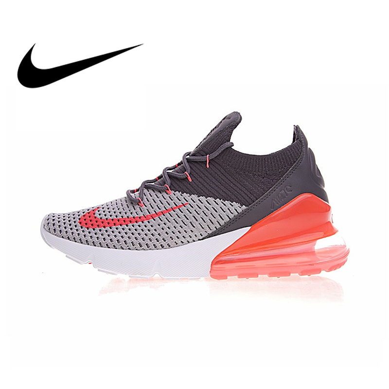 Authentique Nike Air Max 270 Flyknit chaussures de course pour femmes Sport baskets de plein Air confortable Durable respirant AO1023