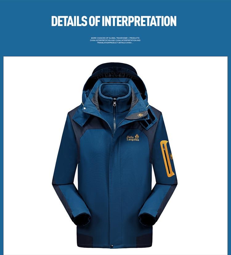 2019 marca jaqueta impermeável ao ar livre