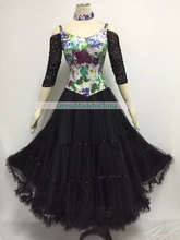 Dress Standard For Ladys Popular Big Size Advanced Custom Waltz Tango Flamenco Ballroom Dance Dresses Women