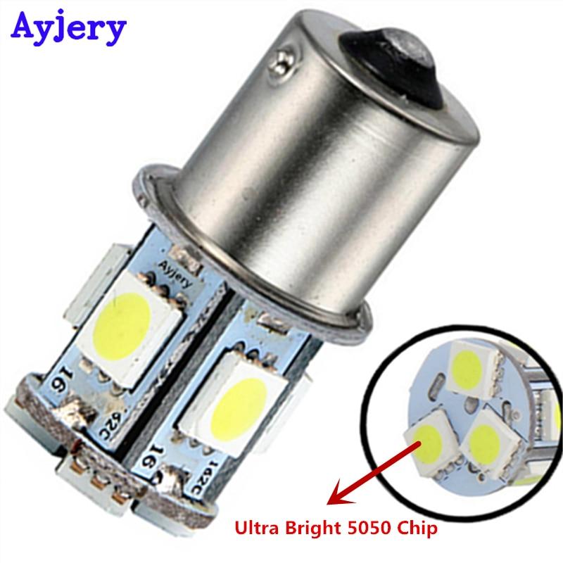 Super Bright 100X S25 1156 BA15S 1157 BAY15D 5050 8 SMD Turn Lamp Brake Tail Parking