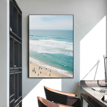 Nordic Minimalist Aerial Beach Wall Art Modern Coastal Print Canvas Paintings Sea Posters Pictures for Living Room Decor