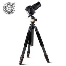 Q610C lightweight 1 7kg carbon fiber camera tripod 32mm big diameter camera kit with 4 section