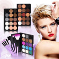 15 Colors Eyeshadow Powder Makeup Combo + 7 pcs Makeup Brush Makeup Set Matte Shimmer Eye Shadow Eye Cosmetic