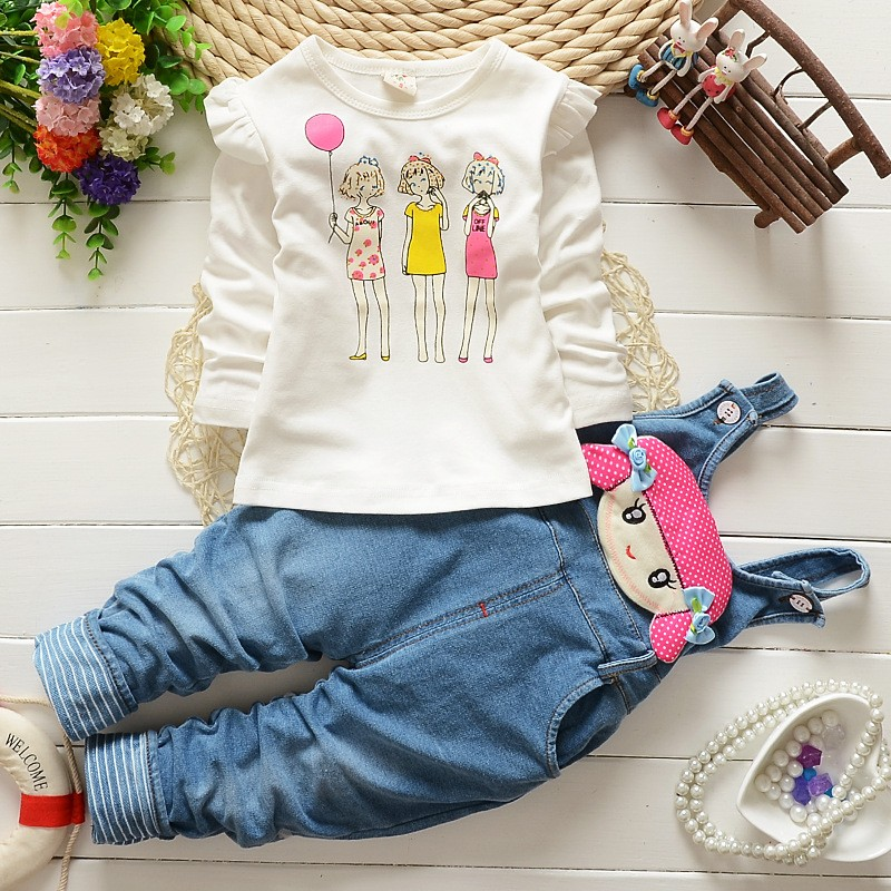 Fashion-Spring-Autumn-Baby-Girls-Clothing-Set-Kids-Girls-T-shirt-Overalls-2-pcs-Clothes-Set (2)