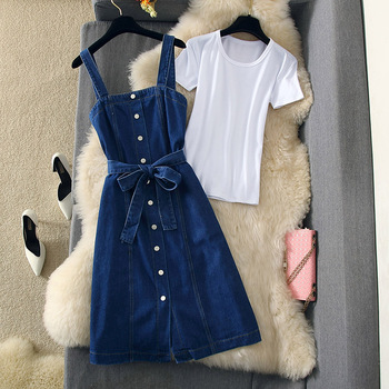 Denim Strap Dress