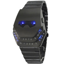 Men's LED watches fashion eye eye head iron man watch snake head watch band girl student sports watch relogio masculino gifts