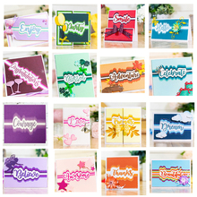 JC Metal Cutting Dies for Scrapbooking Cut English Phrase Words Letters Card Making Stencil Craft Folder Paper Album Decor
