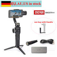 (can ship from EU,AU,US) Zhiyun Smooth 4 3-Axis Handheld Gimbal Stabilizer for iPhone X 8 7 Plus Samsung S8+ S8 S7 S6 S5,Handle