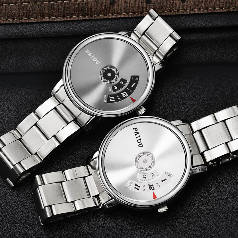 Paidu Top Brand Lovers'Turntable Watch Fashion Full Steel Watch Men Women Watches Quartz Clock Hour Reloj Mujer Reloj Hombre