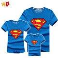 AD Estilo Superman Família Combinando T camisas de Algodão de Qualidade de Verão mãe e Filha Pai e Filho Roupas Mommy and Me roupas