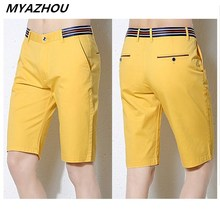 Authentic summer men's shorts cotton Slim business casual
