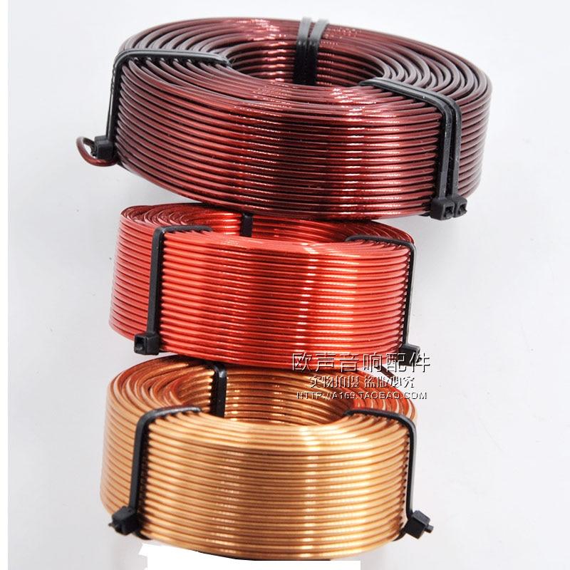1,0 мм полый индуктор трехмерный очень чистый кислород-Бесплатная медь делитель частоты динамика медная катушка аудио аксессуары