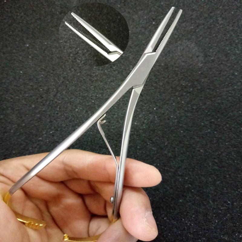 Dental Orthodontic Mathieu Needle Holder Standard 14cm Extra Fine Beak Forceps Plier Surgical Instruments Dental Laboratory Equi