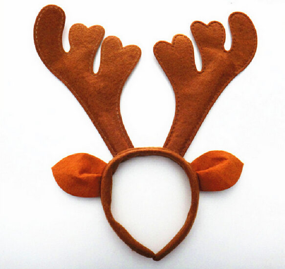 c07b09930272d Reindeer Antlers Christmas Headbands Fancy Kids Cute Xmas Red Party Festive  Hairbands Headband Decoration
