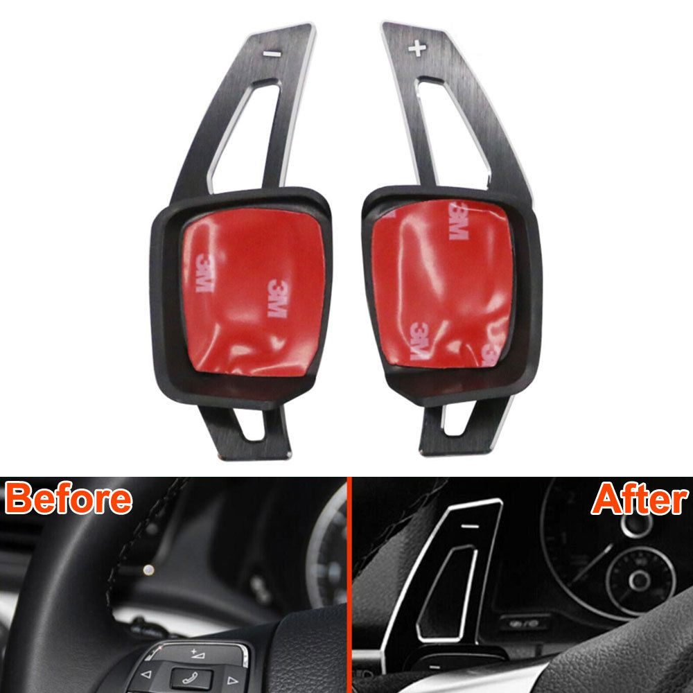 Car Steering Wheel DSG Paddle Extension Shifters Shift Styling Sticker Car Accessories For VW Golf GTI R20 7 R Mk7 VII 2013-2015 real carbon fiber mirror cover case for vw golf 7 mk7 gti tsi vii jdm 2013 2015 [1031001]