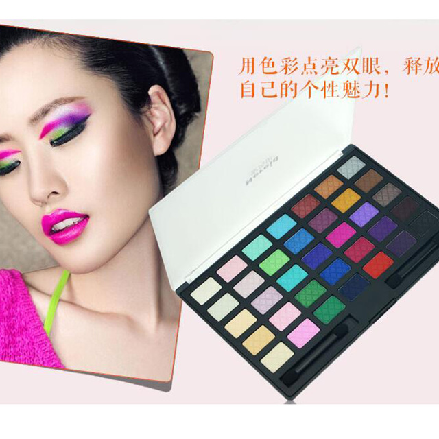 2016 Newest 35 Color Shimmer matte Eyeshadow Palette Earth Color Eyshadow Mineral Pigment Cosmetic Maekup Set Kit