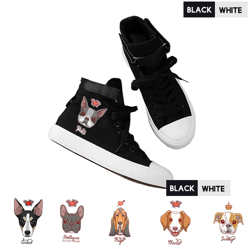 Shoes Cute Corgi Dog Cat Fruit Printed Shoes Graffiti High Heel Double-layer Canvas College Personalise Fashion A194112 Men's Vulcanize Shoes