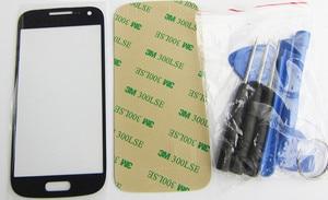 Image 5 - Nowy pełny zestaw do Samsung Galaxy S4 mini i9190 i9192 i9195 obudowa Case + środkowa rama + tylna pokrywa + szkło przednie + klej + narzędzia