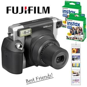 Image 1 - Fujifilm Instax WIDE 300 Film natychmiastowy aparat fotograficzny + Fuji Instant 210 szeroki zwykły biały ramka 40 arkuszy kolorowe zdjęcia filmy