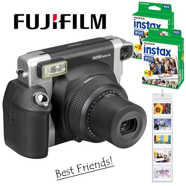 Fujifilm Instax WIDE 300 Film natychmiastowy aparat fotograficzny + Fuji Instant 210 szeroki zwykły biały ramka 40 arkuszy kolorowe zdjęcia filmy