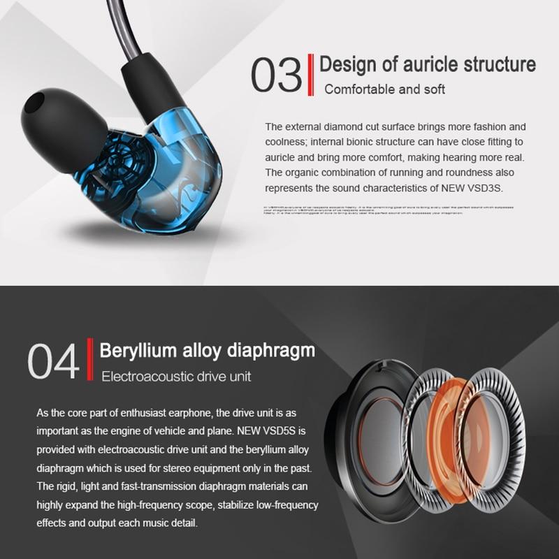 VSONIC VSD3Si Control en línea Micrófono Profesional Auricular con - Audio y video portátil - foto 4