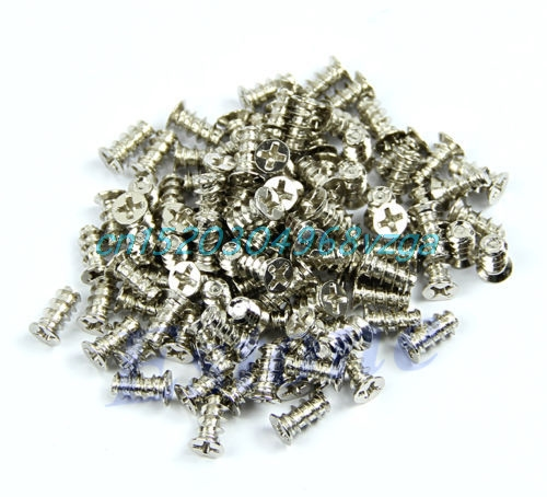 Heat Dissipation Screws Fixer Sale 100pcs Silver Computer PC Case Cooling Fan #H028#