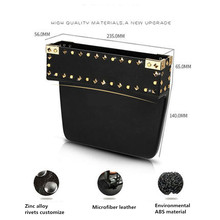 Rivets Storage Box Car Organizer on Seat Gap