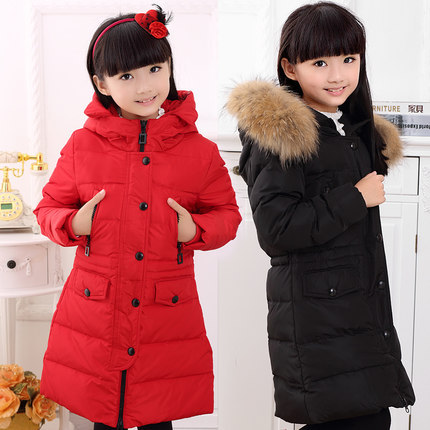 550bbfc0c63c Fashion Girl jackets coat for winter baby girl Down Parkas long warm  Children winter clothing Outerwear Coats duck down jacket