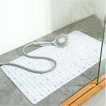 ПВХ нескользящий коврик для ванной комнаты с несколькими присосками мягкий сливной коврик для ванной, душевой коврик безопасный коврик для ванной