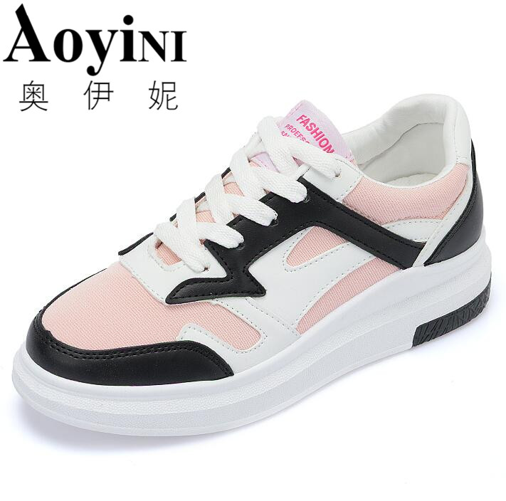 In the spring of 2017 students and lady white shoe canvas shoes thick soled breathable shoes black white pink shoes skate shoes point systems migration policy and international students flow