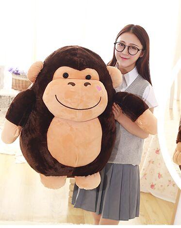 Grande poupée singe 70 cm gros orang-outan peluche douce oreiller câlin décoration de la maison cadeau d'anniversaire h2864