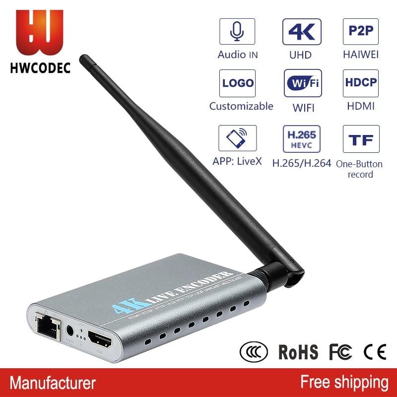 HWCODEC h.264/h.265 HDMI 4K wifi hdmi video encoder UHD ip wifi live streaming hdmi to ip 4K h264 encoder for youtube facebookHWCODEC h.264/h.265 HDMI 4K wifi hdmi video encoder UHD ip wifi live streaming hdmi to ip 4K h264 encoder for youtube facebook