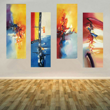 Abstract pattern oil painting 4 Pieces hand painted oil painting on canvas modern wall art picture home decor for living room