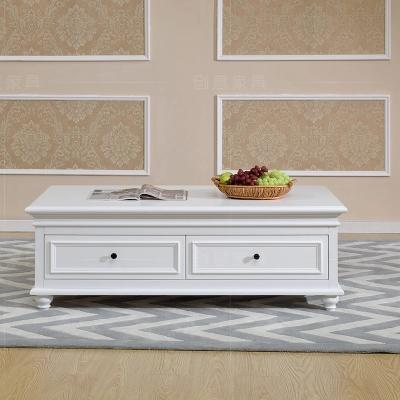 American Country Birch Wood Coffee Table 1.3 M Paint The Living Room Tea  Storage TV Cabinet